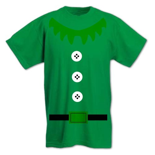 Men's Christmas Elf Suit Costume T-Shirt