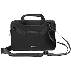 Evecase Surface Pro 3 / Surface Pro 4 Shoulder Bag, Multi-functional Fully Padded Neoprene Messenger Briefcase Case w/ Handle and Shoulder Strap for Microsoft Surface Pro 3 / Pro 4 Tablet - Black