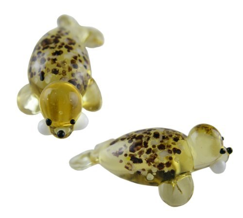 Miniture Glass Figurines-Glass Aquatic Figurine Animals - Sea Lion - 1