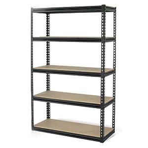 Gorilla Rack GRZ6-4824-5IMP 5-Shelf 48-by-24-by-72-Inch Shelving Unit, Black