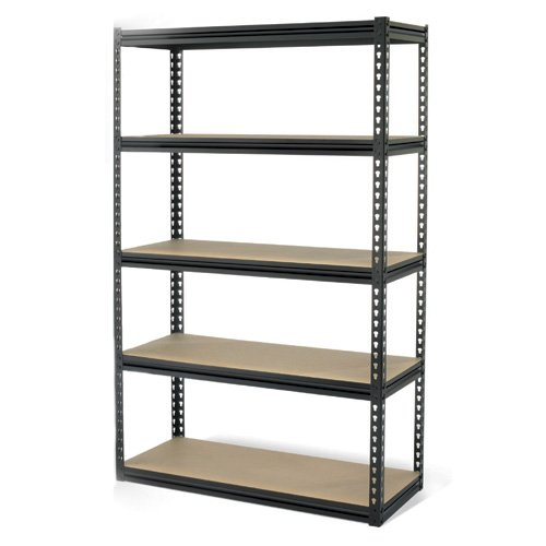 cheap gorilla rack grz6 4824 5imp 5 shelf 48 by 24 by 72 inch shelving unit black for. Black Bedroom Furniture Sets. Home Design Ideas