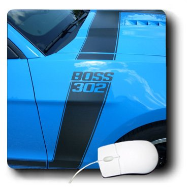 3Drose Llc 8 X 8 X 0.25 Inches Mouse Pad, Great Boss 302 Mustang At Car Show In Florida (Mp_62430_1)