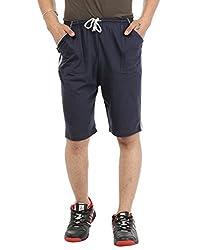 Gumber Blue Solid Shorts (GE_VT_NKR_DG_1PC)