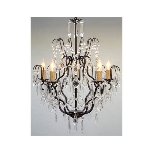 wrought iron crystal chandelier chandeliers