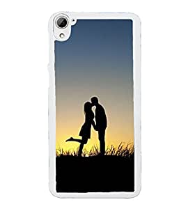 Love Couple 2D Hard Polycarbonate Designer Back Case Cover for HTC Desire 826 Dual Sim