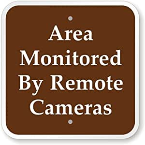 USD20 Amazon Gift Card Wedding Registry : Amazon.com: Area Monitored By Remote Cameras Sign, 12