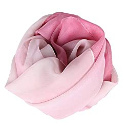 Your Gallery Women's Gradient Color Wrap Shawl Stole Silk Chiffon Infinity Scarf, pattern 11