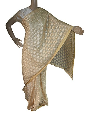 Beautiful RUDA Designer Phulkari Embroidered Saree-JS1117