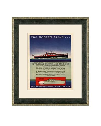 Vintage 1931 Sterling Engine Co. Advertisement, Multi, 21 x 18