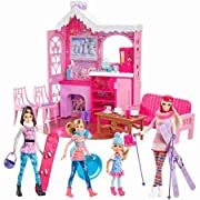 Barbie Winter Family Build Up - Dolls - Fashion Doll Playsets - Signature-style cabin for a family vacation in a winter wonderland - Age Start:3 Years - Product in Inches (L x W x H):26.18 x 4.09 x 12.84
