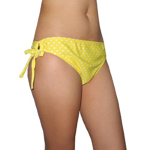 femmes-old-navy-surf-soft-lisse-swim-bikini-bas-quick-dry-jaune-blanc-taille-xl