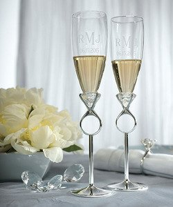 Diamond-Ring-Champagne-Flutes