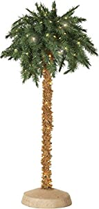 5 Foot Lighted Palm Tree One Size