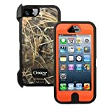 Camo/Orange Otterbox Defender Rugged Combo Case +Holster for iPhone 5 or 5S - 77-24301