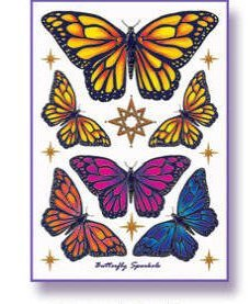 Mandala Arts Butterfly Body Art Tattoos