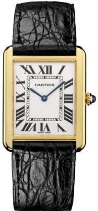 Cartier Men's W1018855 Tank Solo 18kt Yellow Gold Watch