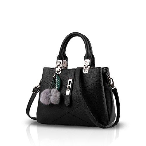 Nicole&Doris 2016 neue Welle Paket Kuriertasche Damen weiblichen Beutel Handtaschen für Frauen Handtasche(Black)