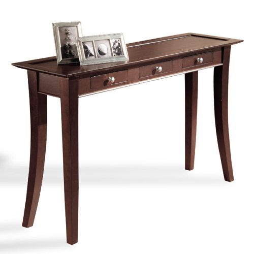 Dolce dark walnut 3 drawer console table - Table vitroceramique 3 foyers ...