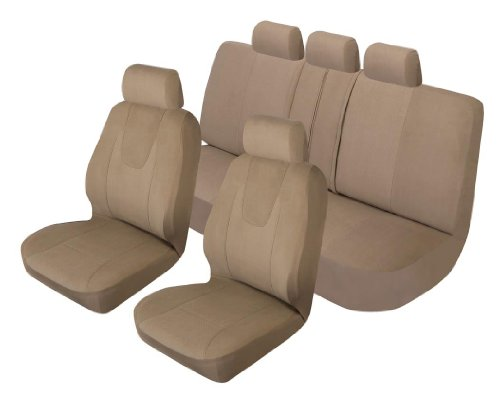 Auto Expressions 804632 Tan Cambridge Seat Cover Kit - 3 Piece, (2 Low Back Front And 1 Bench) front-162370