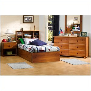 Cheap South Shore Sand Castle Kids Twin Mates Storage Bed 4 Piece Bedroom Set in Sunny Pine (3642213-4PKG)