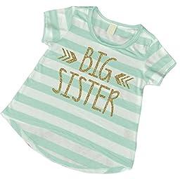 Big Sister Shirt, Baby Girl Clothes, Big Sister Gift (6T)