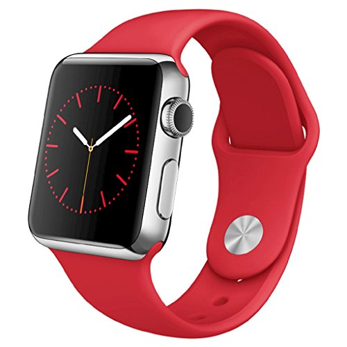 Apple Watch 38mm Stainless Steel Case with (PRODUCT) RED Sport Band Limited Edition MLLD2LL/A