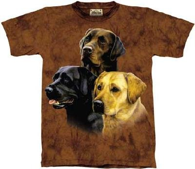 The Mountain Labrador Collage Dogs Adult Tee T-shirt