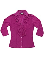 Meshcessity  Cardigan Sweater Magenta Large
