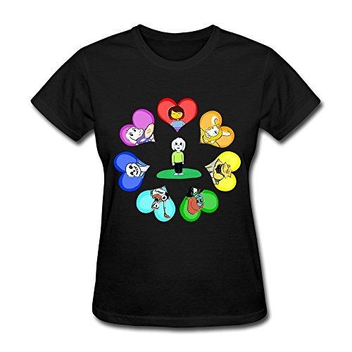 JeFF Women Undertale Tee Shirt Black (US Size) (Developer Sex compare prices)
