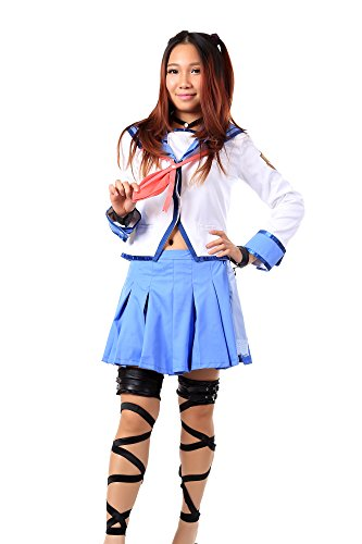 WS_COS Angel Beats! Girls Dead Monster GDM Member Yui Outfit 1st Ver Set Kid S