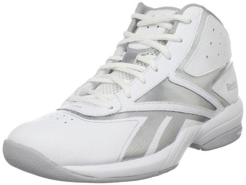 Reebok Men's Buckets VI Basketball Shoe,White/Silver,9.5 M US