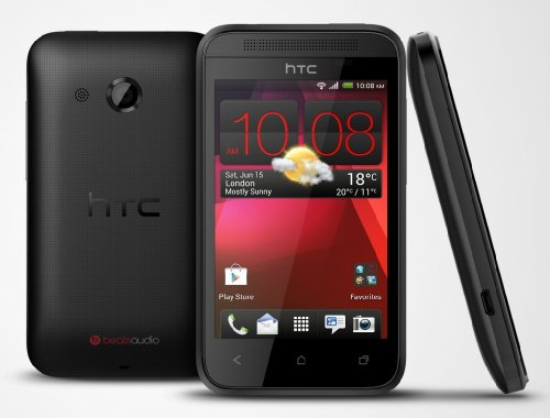 Htc Desire 200 , 102E Black , Beats Audio , 3.5 Inch , 4G (Factory Unlocked)