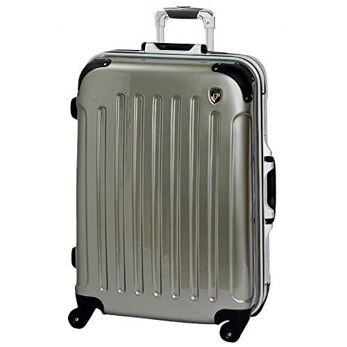 スーツケース キャリーバッグ TSAロック搭載 newPC7000 (M(中)型, シャンパンゴールド)