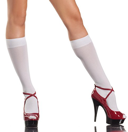 Costume Adventure Women's White Sexy School Girl Knee High Nylon Stockings