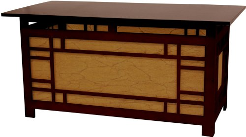 "36"" Hokkaido Japanese Style Lantern Lit Coffee Table - Chocolate"