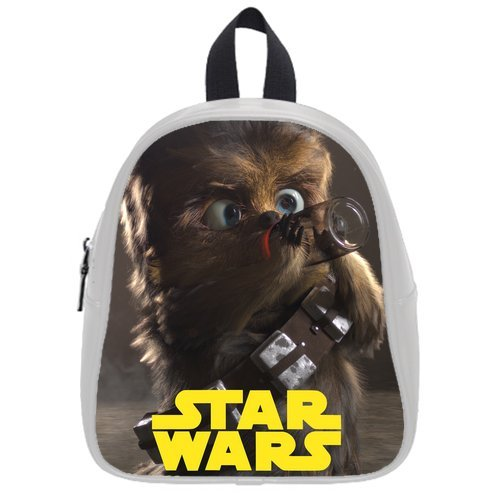 LaHuo Custom Star Wars&Cute Chewbacca Logo Pupils School Bag Satchel(Small)