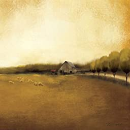 24W x 24H Rural Landscape I by Tandi Venter - Stretched Canvas w/ BRUSHSTROKES