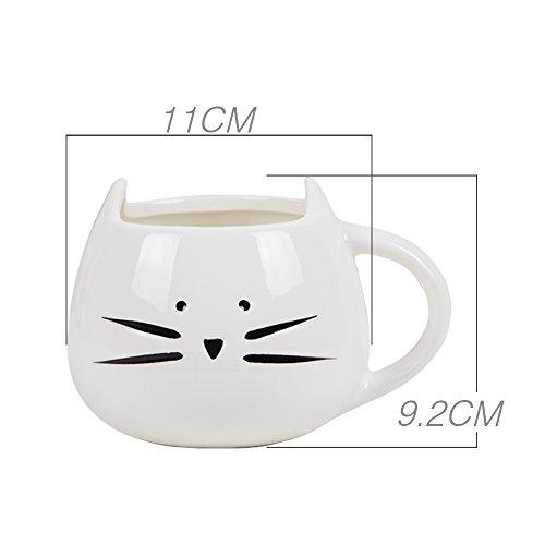 Tasse Chat Mug Café Laità Verre Céramique Verre 300 Ml- Cat Coupe (Chat/FR) pour Noël Cadeau d'Anniversaire