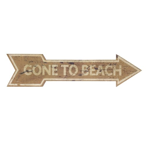 """42"""" Distressed """"Gone To Beach"""" Break Sign Wall Decor front-405483"""