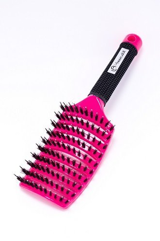 Le Angelique Hair Brush - Vent Hair Brush Neon Pink (U Smooth Hair Brush compare prices)
