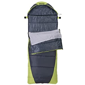 Rokk Sundance 3-Pound Comfort Top Sleeping Bag (Black/Green)