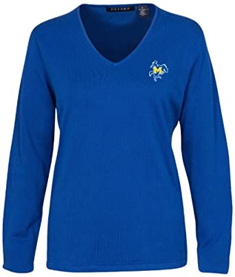 Oxford NCAA Mcneese State Cowboys Ladies Carson V-Neck Sweater by Oxford