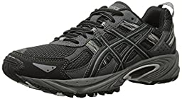 ASICS Gel Venture 5 GS Trail Running Shoe (Little Kid/Big Kid), Black/Onyx/Charcoal, 3 M US Little Kid