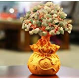 Holiday Gifts Natural Aventurine Quartz Crystal Gem Money Tree In For Wealth