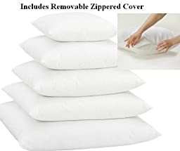 Multiple Sizes - Set of 2 - Poly Pillow Inserts with Zippered Cover- Premium Quality- 20x20- Exclusively by Blowout Bedding RN# 142035