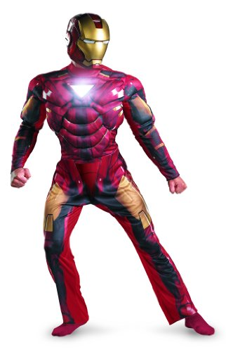 Disguise Marvel Men's Iron Man Mark 6 Light Up Deluxe Adult