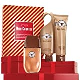 Avon Wild Country Grooming Essentials Gift Set 3 Pcs. Cologne Spray, Hair & Body Wash, After Shave Conditioner