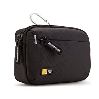 The Case Logic TBC-403 Medium Camera Case has quality materials combined with a minimalist design provide reliable protection for your medium sized camera or compact camcorder. Plus, bring along a small accessory with the exterior zippered slip pocke...