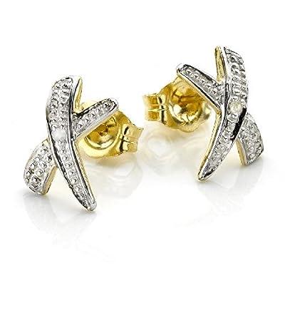 9CT Gold Kiss Earrings