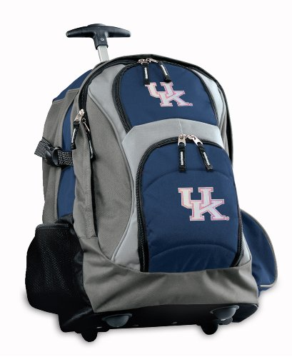 Kentucky Wildcats Rolling Backpack Deluxe Navy Ladies University Of Kentucky Ba